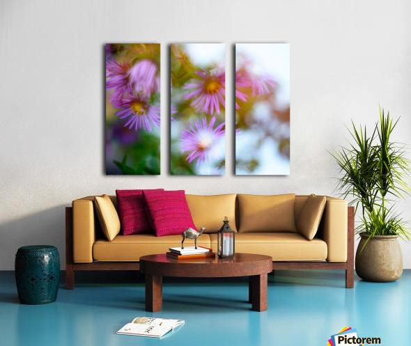 Fleur et ciel Split Canvas print