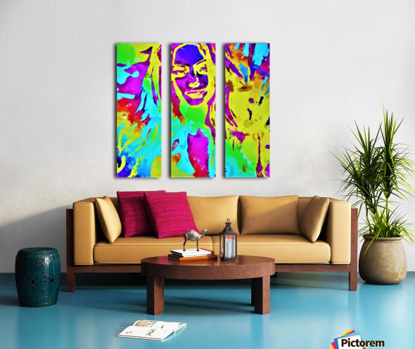 Abstract Girl - by Neil Gairn Adams Split Canvas print
