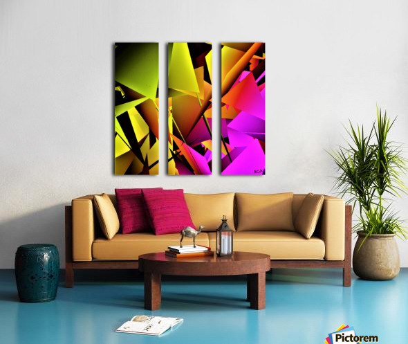 yellow and Pink - by Neil Gairn Adams Split Canvas print