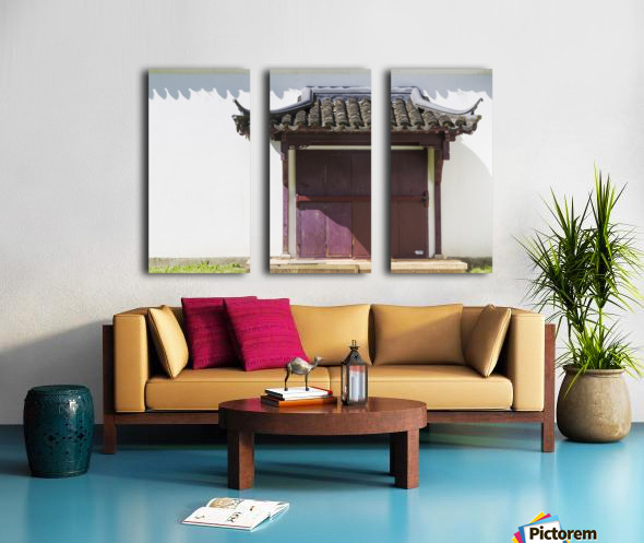 Asian Style Door and Portico Split Canvas print