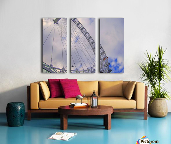 Looking up at The London Eye Split Canvas print