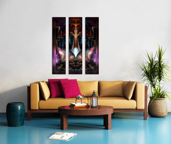 The Trilicon Fractal Art Split Canvas print