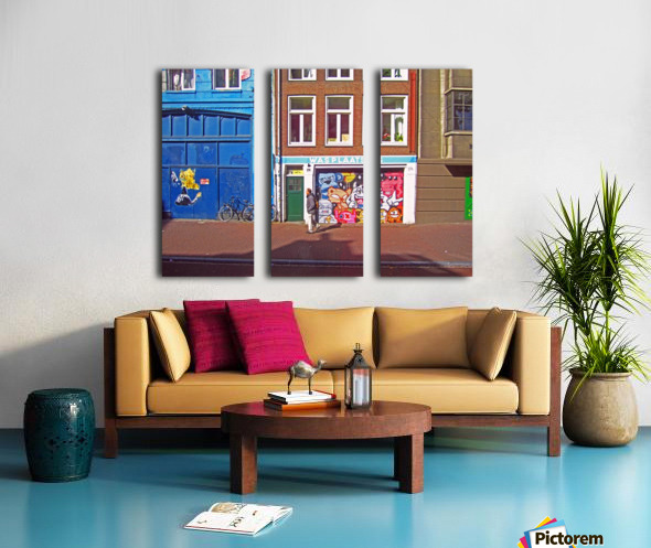 Graffiti Walls Split Canvas print