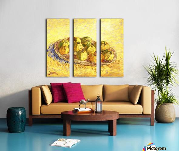 Still life with apple basket -2- by Van Gogh Split Canvas print