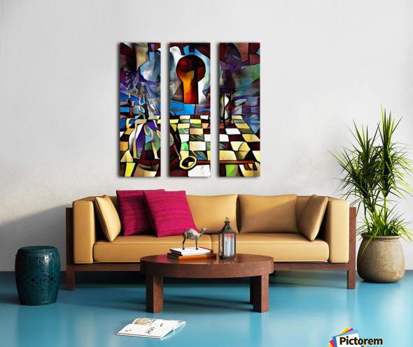 Symbolic Internet Split Canvas print