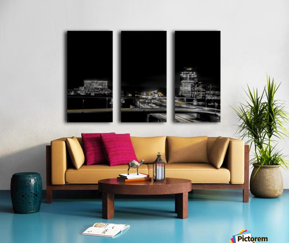 Hot lights on a Cold Night  Split Canvas print