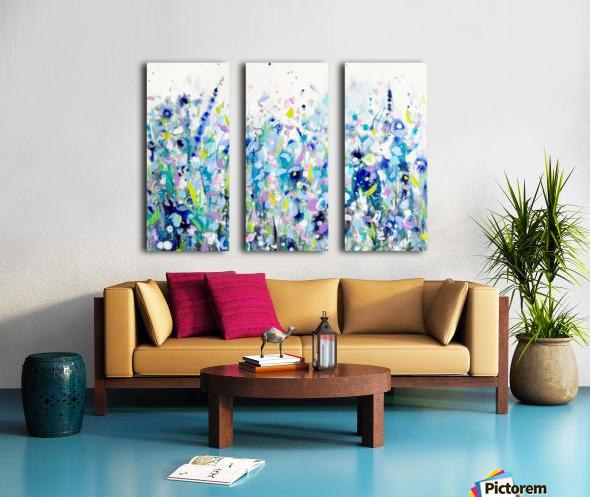Ultramarine Meadow Split Canvas print