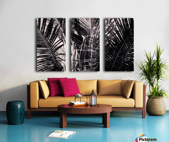 Palm Leaves Geometry Split Canvas print