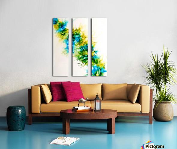 Blue Hawaii Split Canvas print
