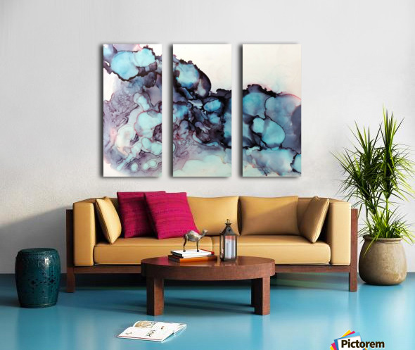 Turquoise Dream Split Canvas print