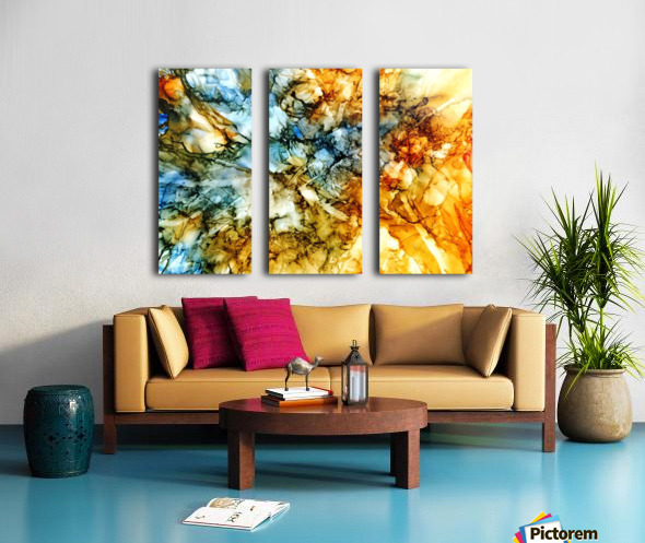 Sediment Split Canvas print