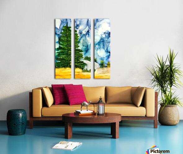 Sandia Stroll Split Canvas print