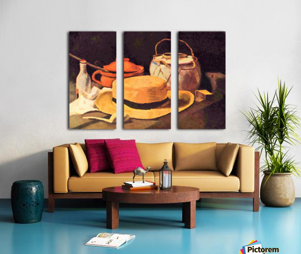 Still Life with Pipe and Straw Hat by Van Gogh Split Canvas print