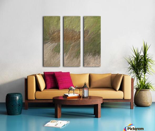 Acid etch Split Canvas print