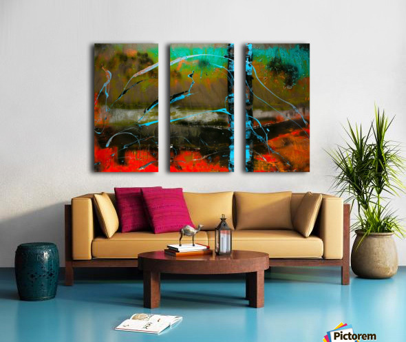 3124   thrill me Split Canvas print