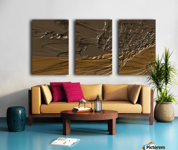 Anular turmoil Split Canvas print
