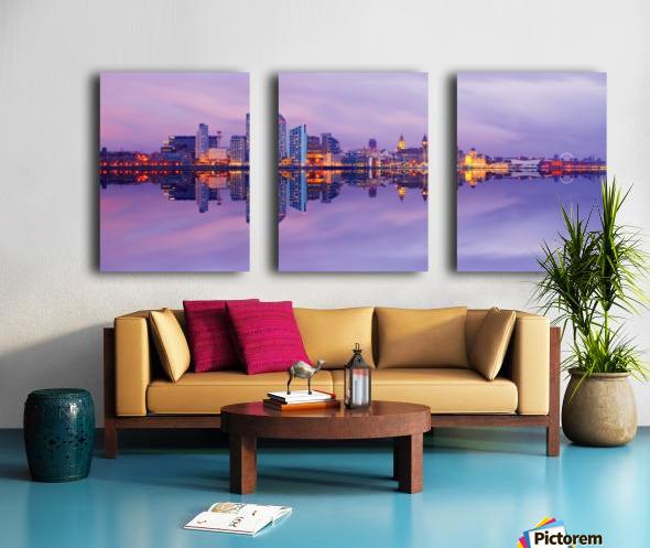 LIV 007 Liverpool Skyline   PANORAMIC Split Canvas print