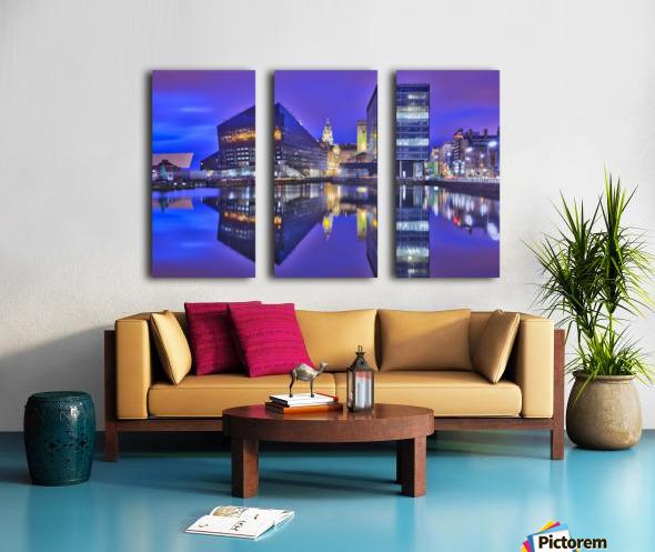 LIV 004 Dock Reflections Split Canvas print