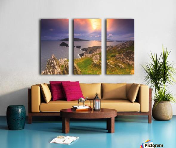 KY 602 Blasket Island Sunset Split Canvas print