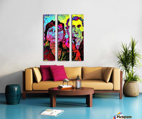 The Happily Married Couple  - by Neil Gairn Adams  Split Canvas print