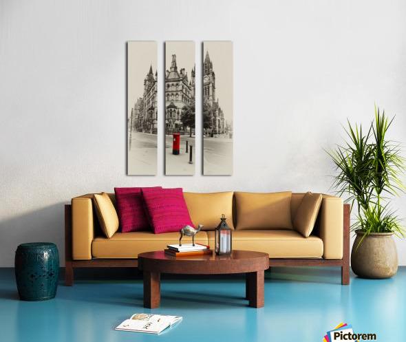 MAN 023 Manchester Town Hall Split Canvas print