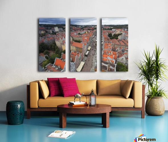 POL 012 Gdansk Split Canvas print