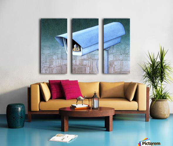 monitoring Split Canvas print