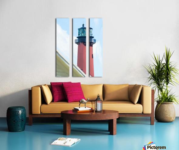 Jupiter Inlet Lighthouse Digital Painting Portrait 52 70 200px Split Canvas print