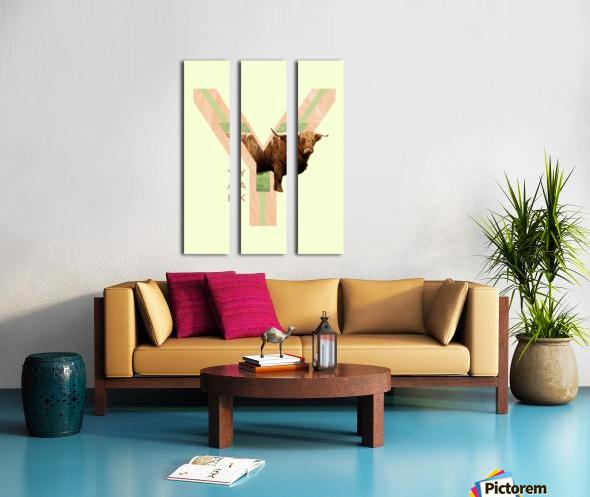Yak Split Canvas print