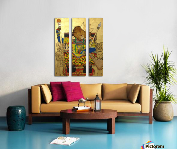 The King of The Jungle Split Canvas print
