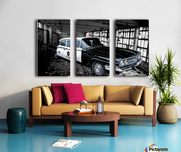 Car Split Canvas print