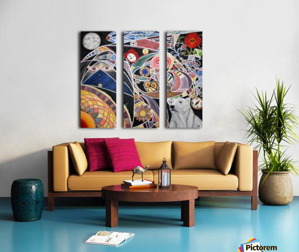 LOurs noir Split Canvas print