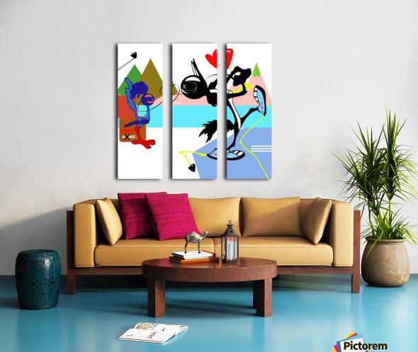 Love Running Split Canvas print