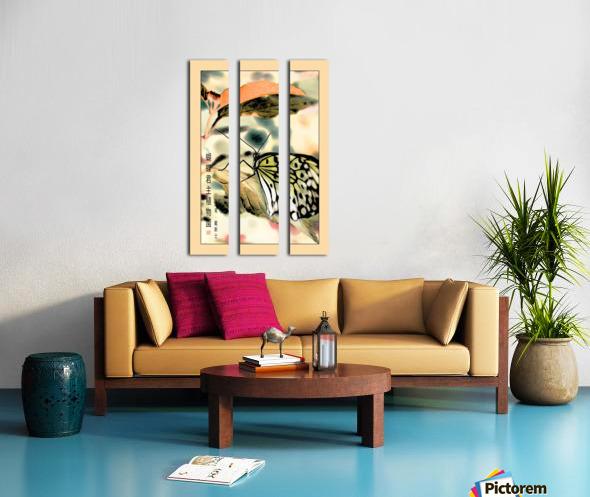 Papillon chinois  Toile Multi-Panneaux