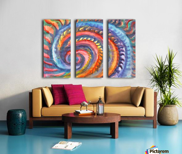 Watercolor abstract spiral staircase Split Canvas print