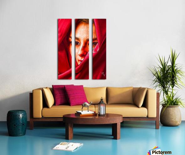 Bianca in red Split Canvas print