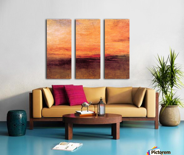 Sunset by Joseph Mallord Turner Split Canvas print