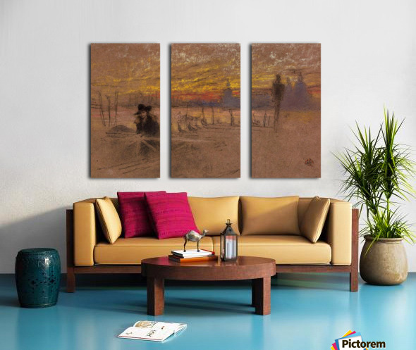 Sunset Red and Gold by Whistler Split Canvas print