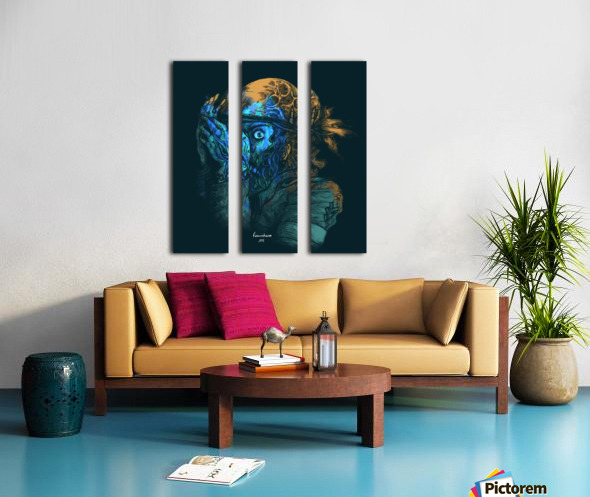 Theres a killer on the moon Split Canvas print