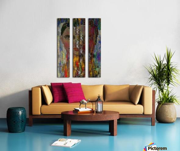 Man and Woman Split Canvas print