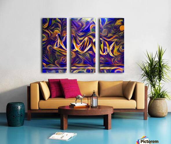 Abstract DNA Split Canvas print