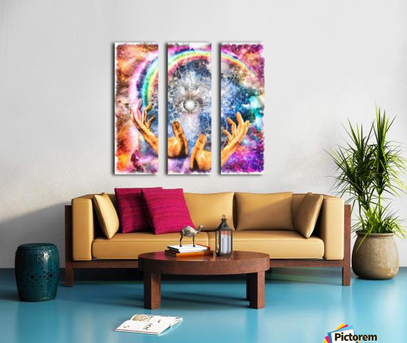 All seeing Eye Split Canvas print