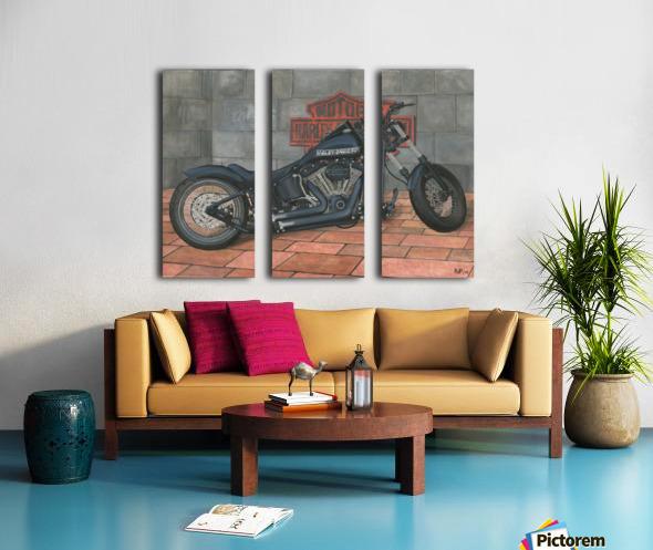 Harley Davidson Motorcycle Split Canvas print