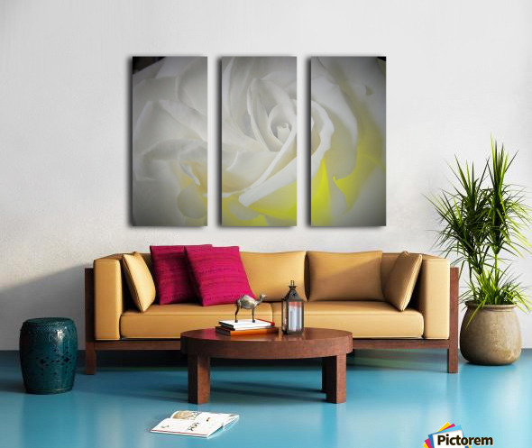 White Layers Split Canvas print