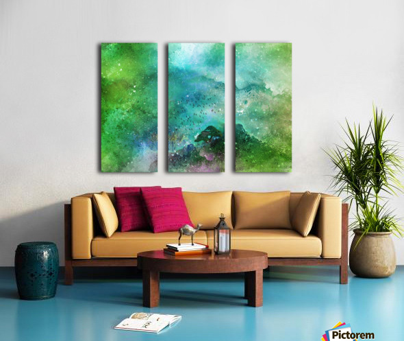 From the top Split Canvas print