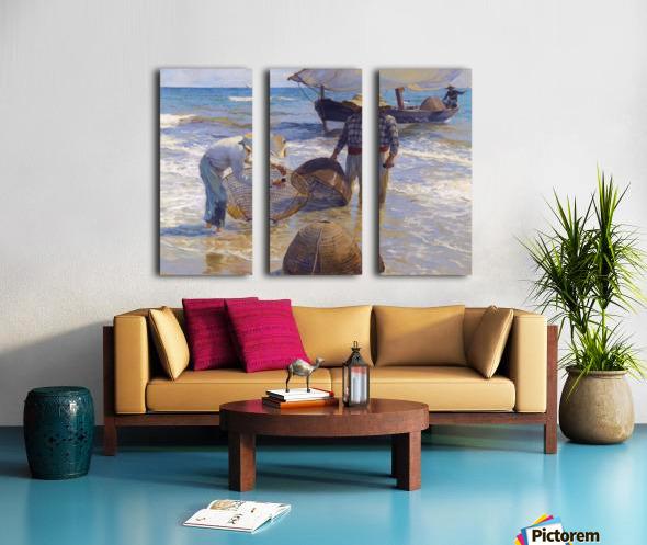 Los Pescadores Valencianos Split Canvas print
