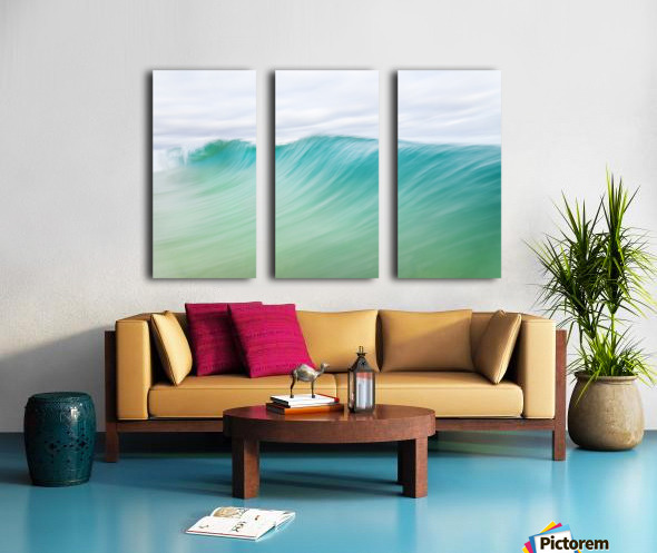 CANARY WAVES 2. Split Canvas print
