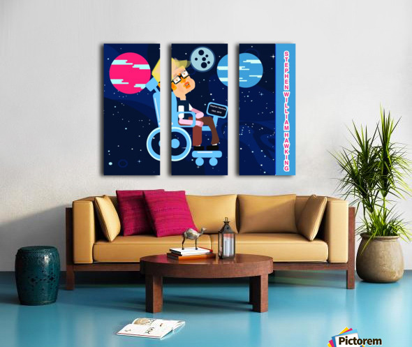 Stephen William Hawking illustartion Split Canvas print