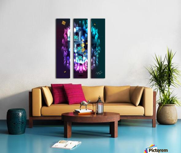 Touch of  fellings  Split Canvas print