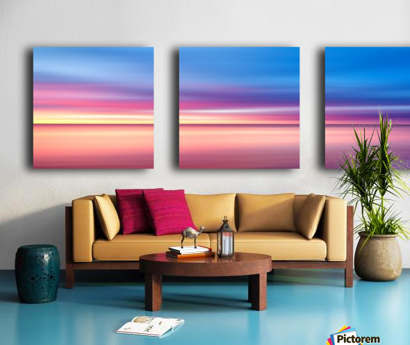 Abstract Sunset V   Panoramic Split Canvas print